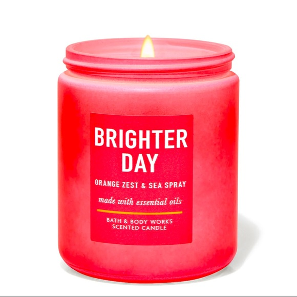 NWT Brighter Day Orange Zest Single Wick Candle